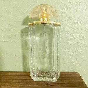 Vintage Lalique Glass Bottle Empty Fragrance Jar